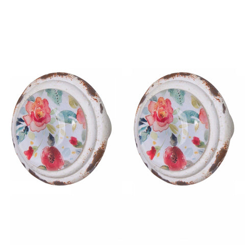 Knob DIY Set of 2 Cottage Floral Petal | The Renmy Store