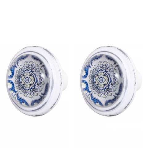 Knob DIY Set of 2 French Blue Tyros | The Renmy Store