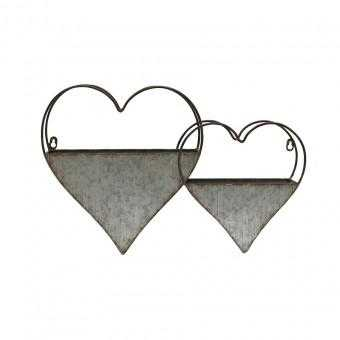 Hearts Heart Rustic Metal Wall Planter Pot - The Renmy Store