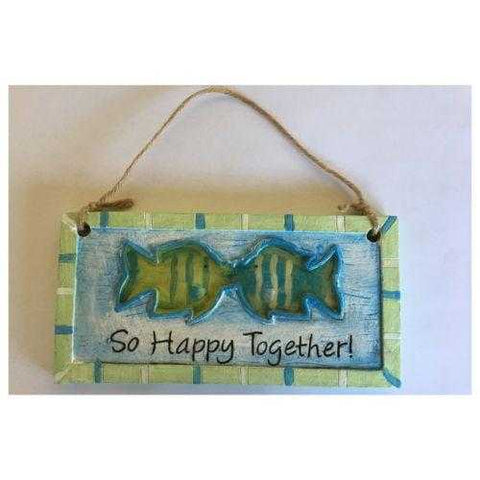 Beach Ocean Fish So Happy Together Sign Or Wall Hanging - The Renmy Store