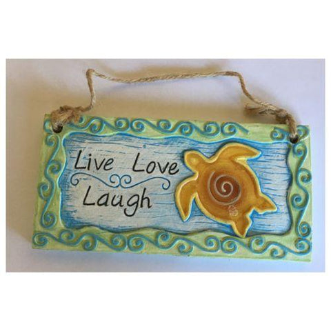 Beach Ocean Turtle Sign Or Wall Hanging Live Love Laugh - The Renmy Store