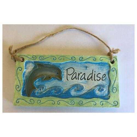 Beach Ocean Dolphin Paradise Sign Or Wall Hanging - The Renmy Store