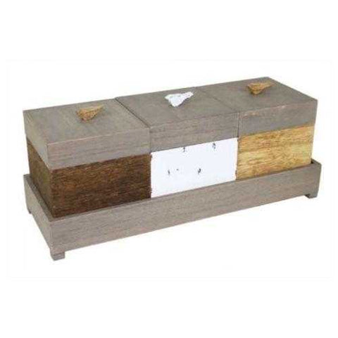 Wooden Boxes Bird Tricolour Storage Vintage Country Or Shabby Chic - The Renmy Store