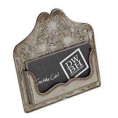 Business Card Holder Bronzed Shabby Chic Vintage Antique Country - The Renmy Store