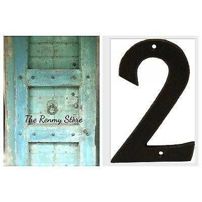 Numbers Large Cast Iron Metal Rustic Number for House Property Fence Letterbox - The Renmy Store