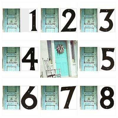 Number Large Cast Iron Metal Rustic Numbers House Fence Letterbox - The Renmy Store