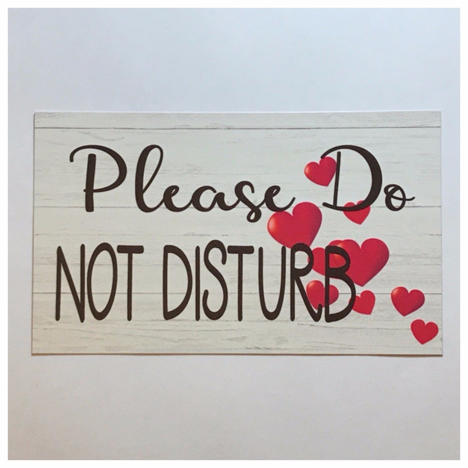 Please Do Not Disturb with Love Hearts Wedding Sign Wall Plaque or Hanging Plaques & Signs The Renmy Store