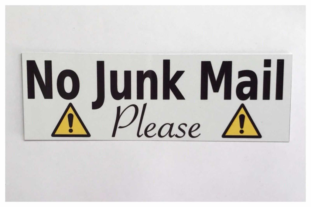 No Junk Mail Please Sign Wall Plaque or Hanging - The Renmy Store