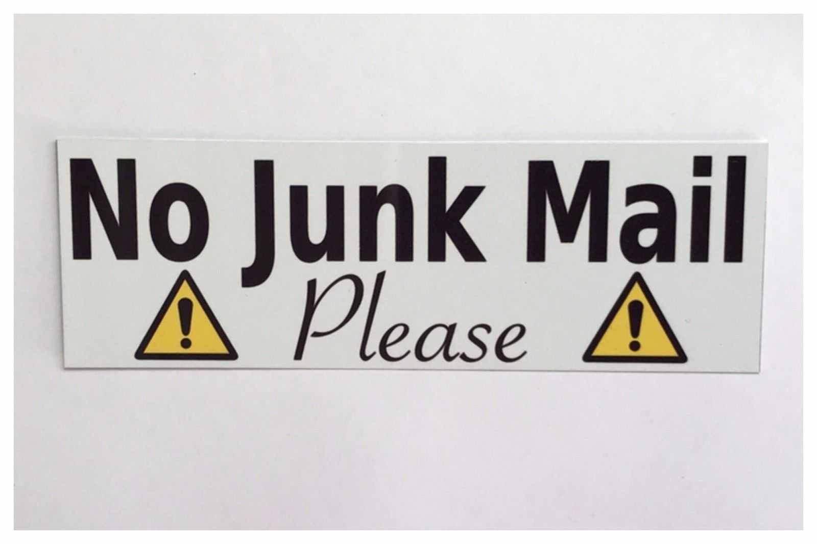 No Junk Mail Please Sign - The Renmy Store