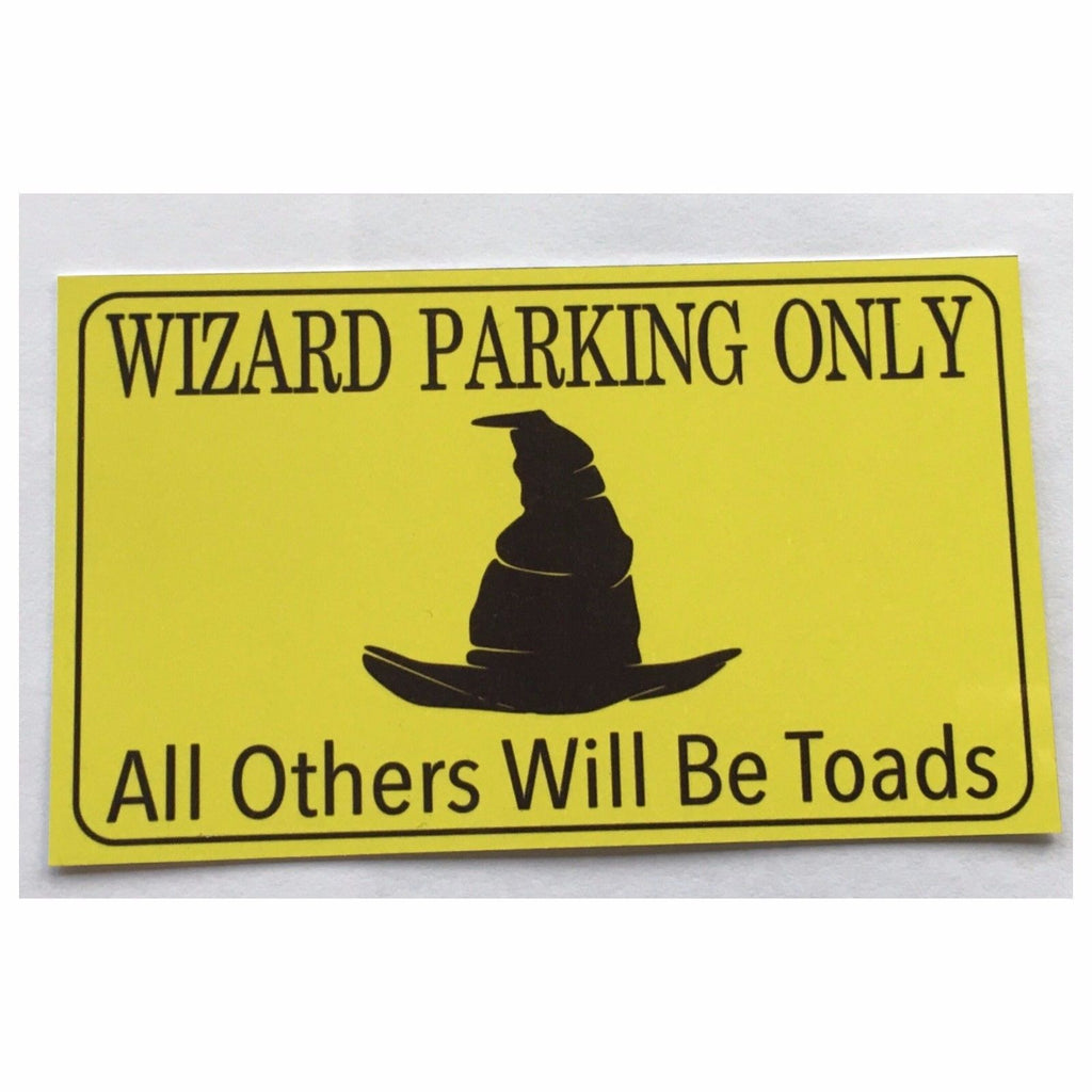 Wizard Parking Wizards Sign Wall Plaque or Hanging - The Renmy Store