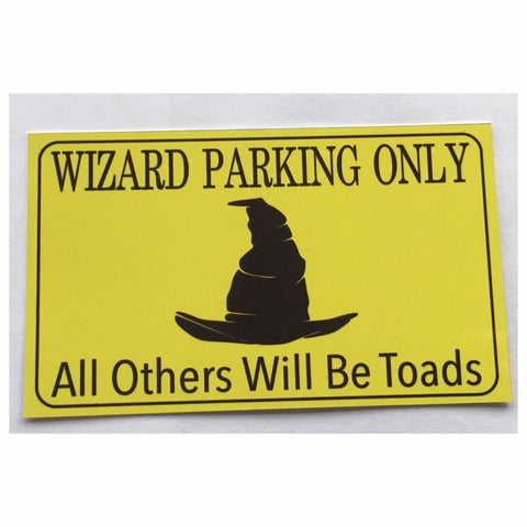 Wizard Parking Wizards Sign Wall Plaque or Hanging Plaques & Signs The Renmy Store