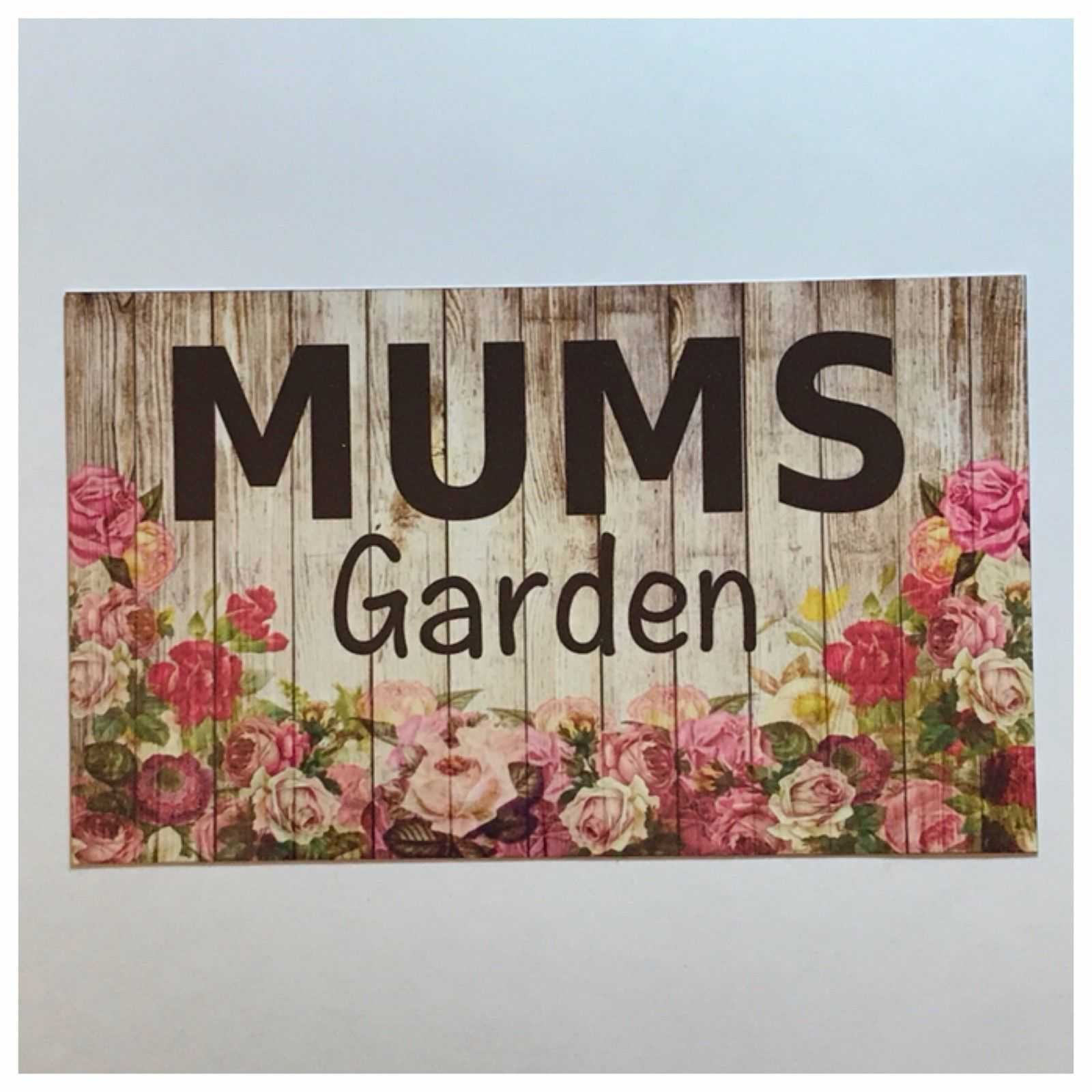 Mums Garden Sign Floral Plaques & Signs The Renmy Store