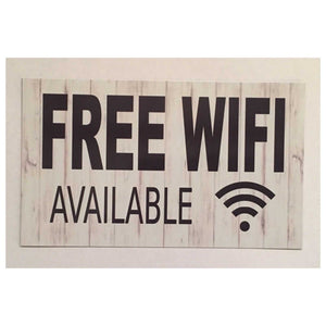 FREE WIFI Business Office Sign Wall Plaque or Hanging Plaques & Signs The Renmy Store