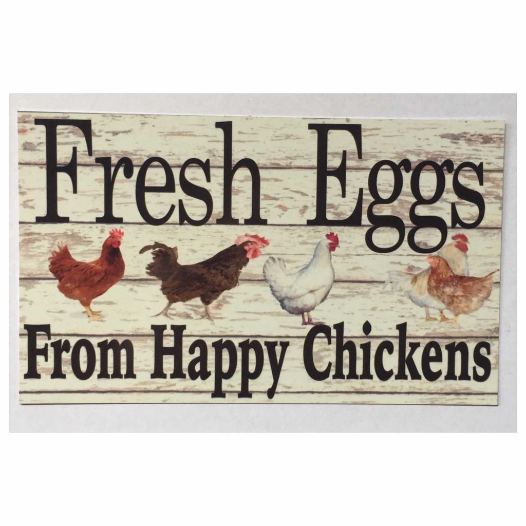 Fresh Eggs From Happy Chickens Sign Wall Plaque Or Hanging - The Renmy Store