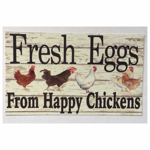 Fresh Eggs From Happy Chickens Sign Plaques & Signs The Renmy Store