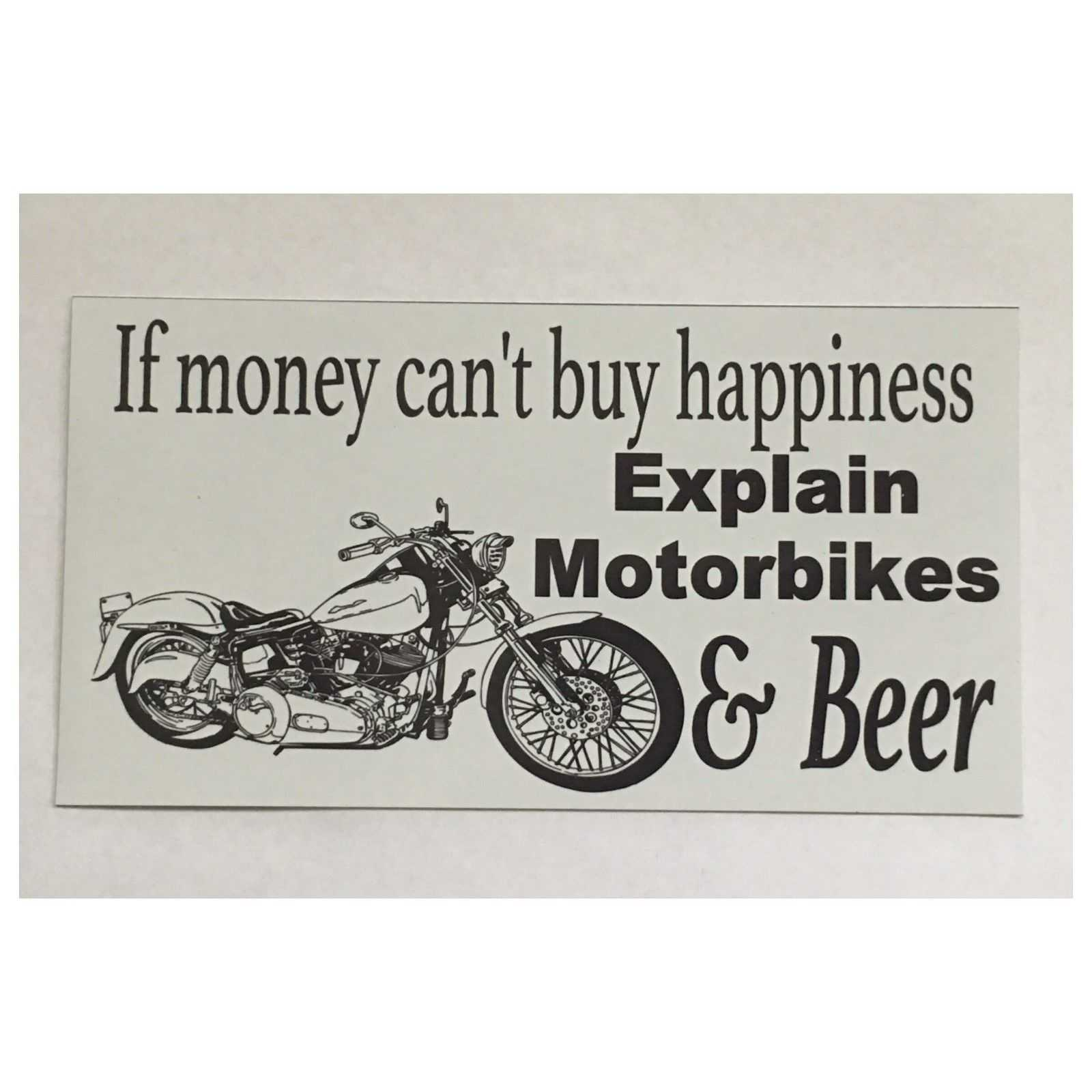 Motor Bikes Motorcycle & Beer Sign Plaques & Signs The Renmy Store