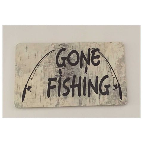 Gone Fishing With Rods Sign Plaques & Signs The Renmy Store