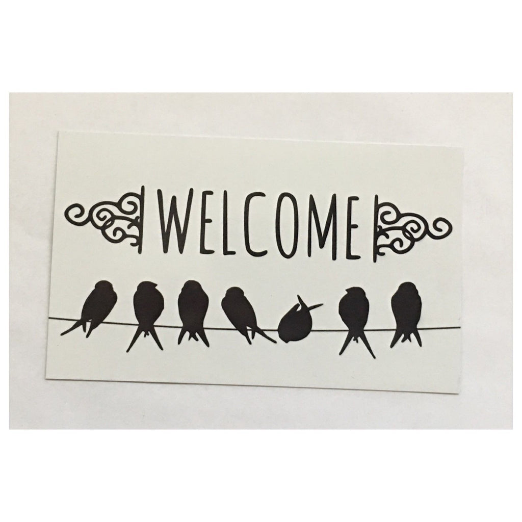 Welcome Birds on a Line Sign Wall Plaque or Hanging - The Renmy Store