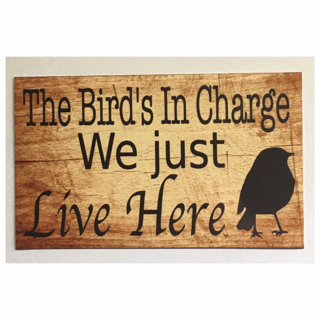 Bird's In Charge Bird Sign Wall Plaque or Hanging - The Renmy Store
