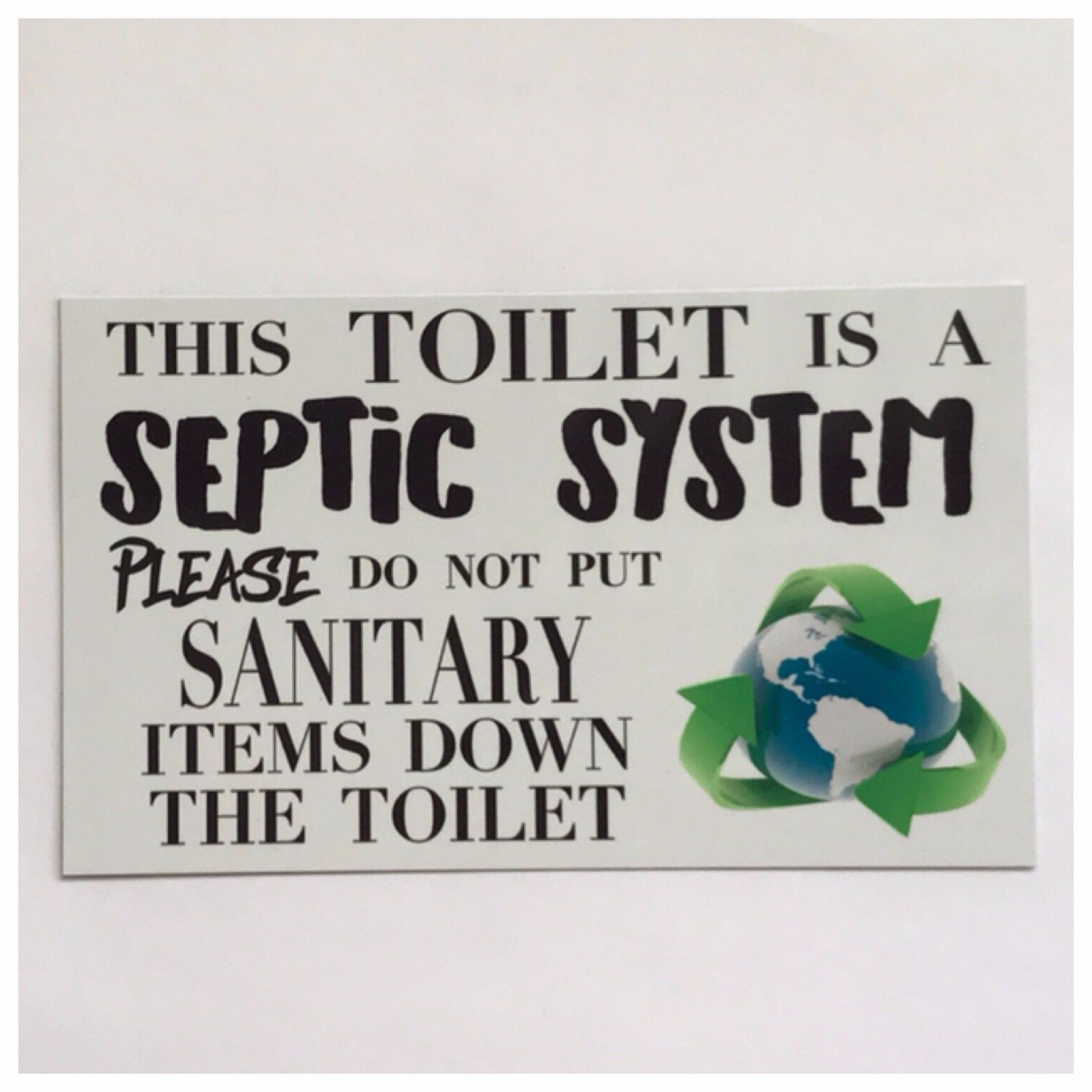 Toilet Septic System Bathroom Sign Plaques & Signs The Renmy Store