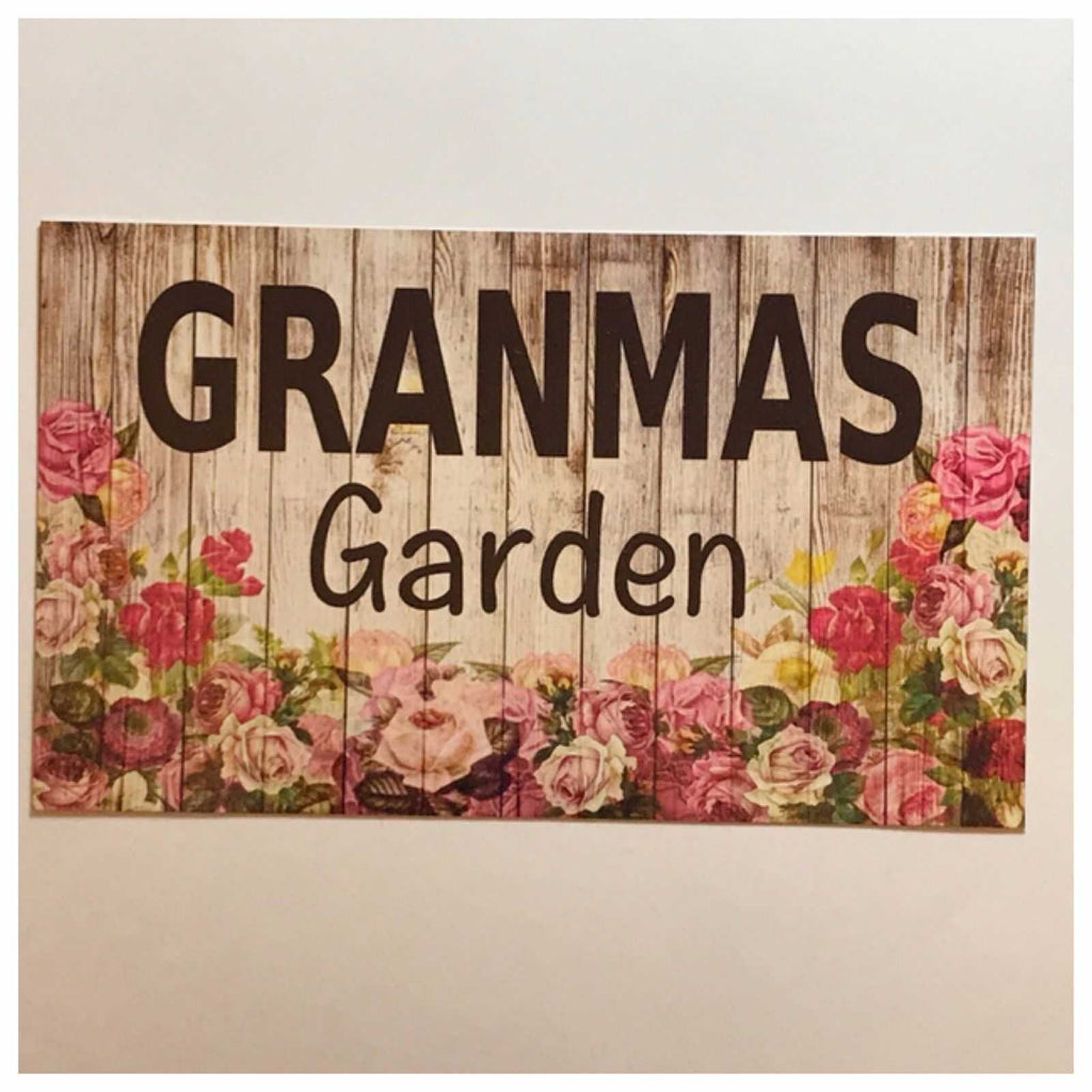 Granmas Garden Sign Wall Plaque Or Hanging - The Renmy Store