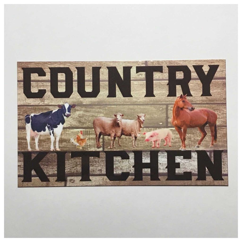 Country Kitchen Sign Wall Plaque Or Hanging - The Renmy Store