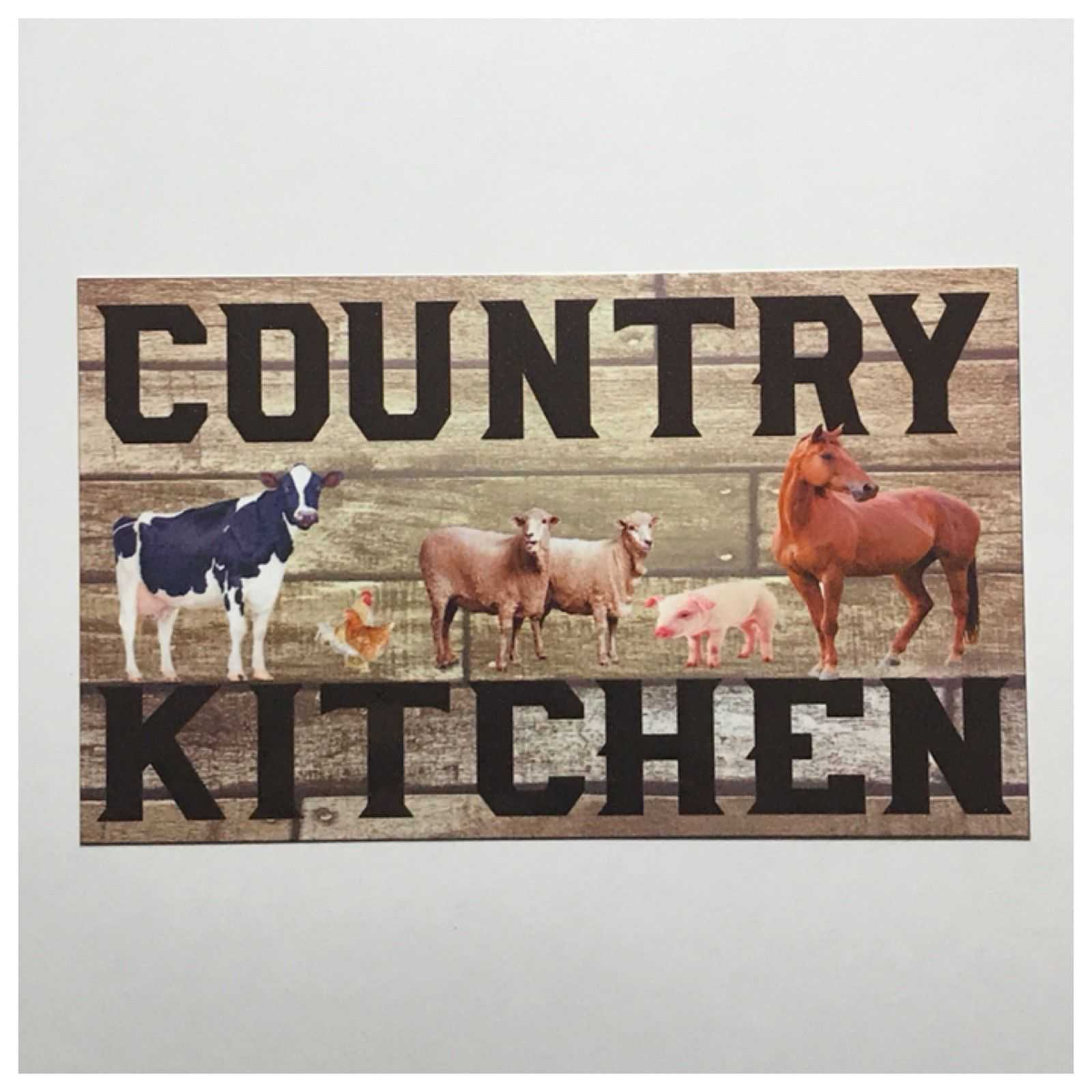 Country Kitchen Sign Plaques & Signs The Renmy Store