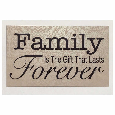 Family Gift Forever Sign Wall Plaque Or Hanging - The Renmy Store