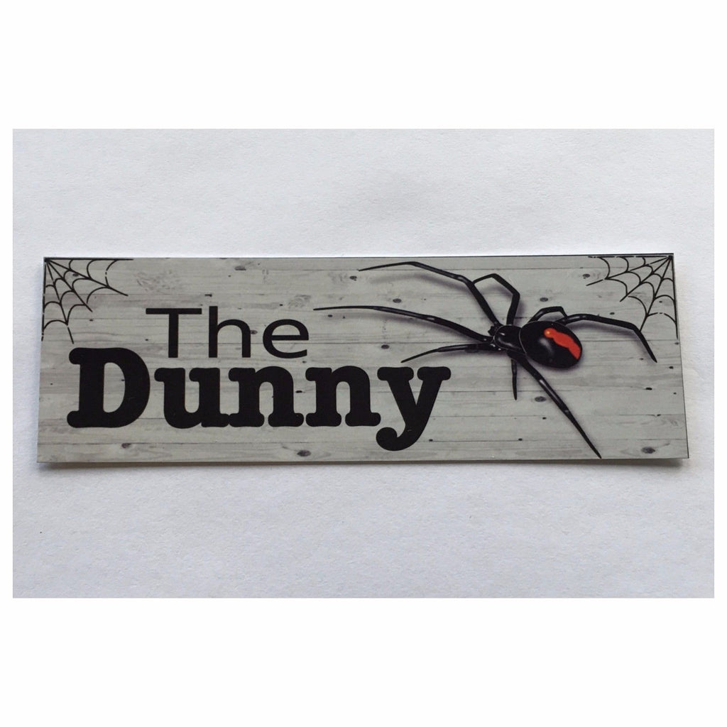 The Dunny Spider Toilet Outback Sign Door Rustic Wall Plaque or Hanging - The Renmy Store
