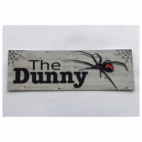 The Dunny Spider Toilet Outback Sign - The Renmy Store