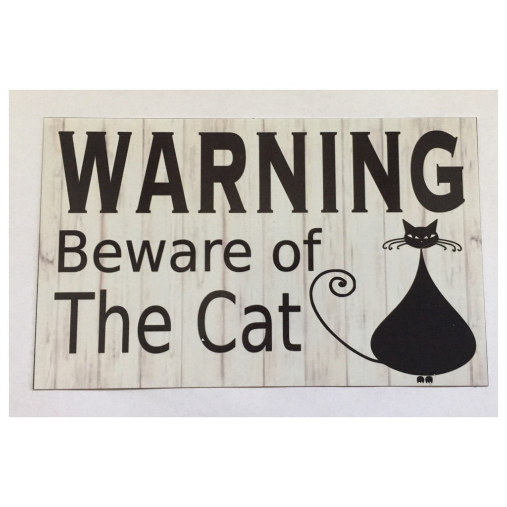 Warning Beware Of Cat Sign Plaque or Hanging - The Renmy Store
