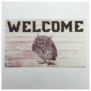 Welcome Owl Sign Tin/Plastic Wall Plaque Country Home House Hanging Vintage Plaques & Signs The Renmy Store