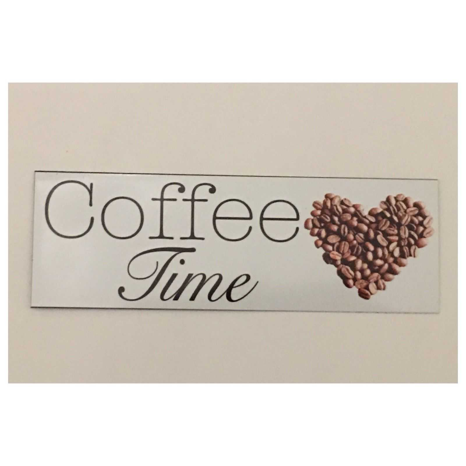 Coffee Time Bean Heart Sign - The Renmy Store
