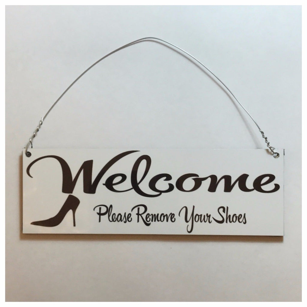 Welcome Please Remove Your Shoes Sign Wall Plaque or Hanging - The Renmy Store