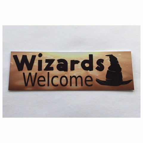 Wizards Welcome Sign Wall Plaque Or Hanging Plaques & Signs The Renmy Store