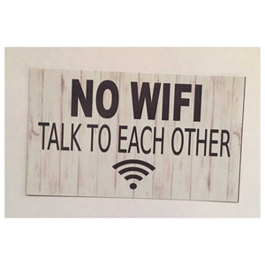 NO WIFI Sign Wall Plaque or Hanging Plaques & Signs The Renmy Store