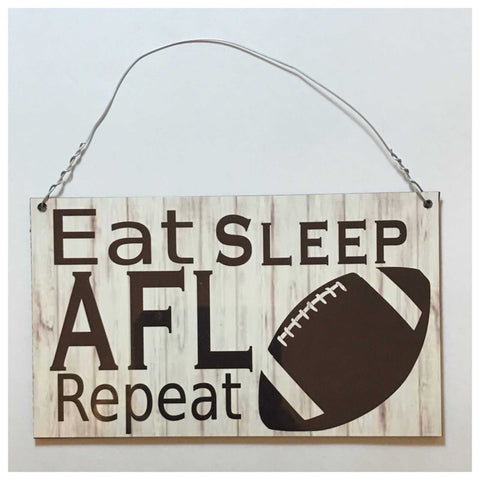 AFL Football Ball Sign Plaque Hanging Sport Collingwood Essedon Carlton Lions - The Renmy Store