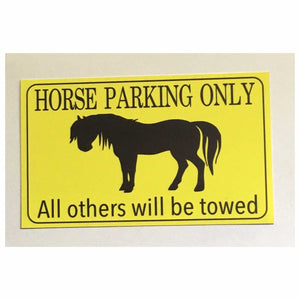 Horse Parking Only Horses Gate Sign Plaque Or Hanging Plaques & Signs The Renmy Store