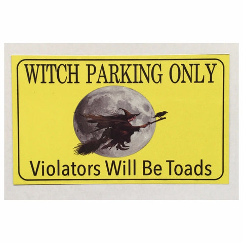 Witch Parking Sign Rustic Wall Plaque or Hanging Plaques & Signs The Renmy Store