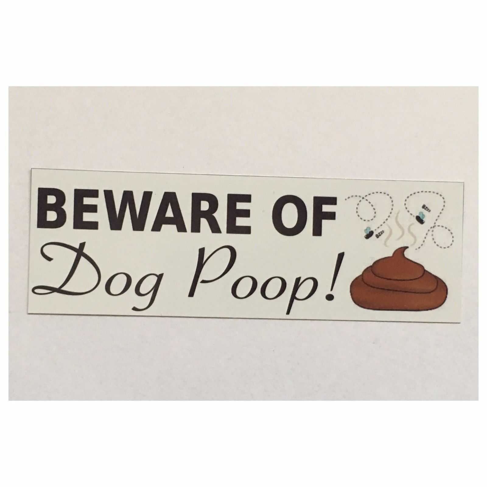 Beware Of Dog Poop Poo Sign Plaques & Signs The Renmy Store