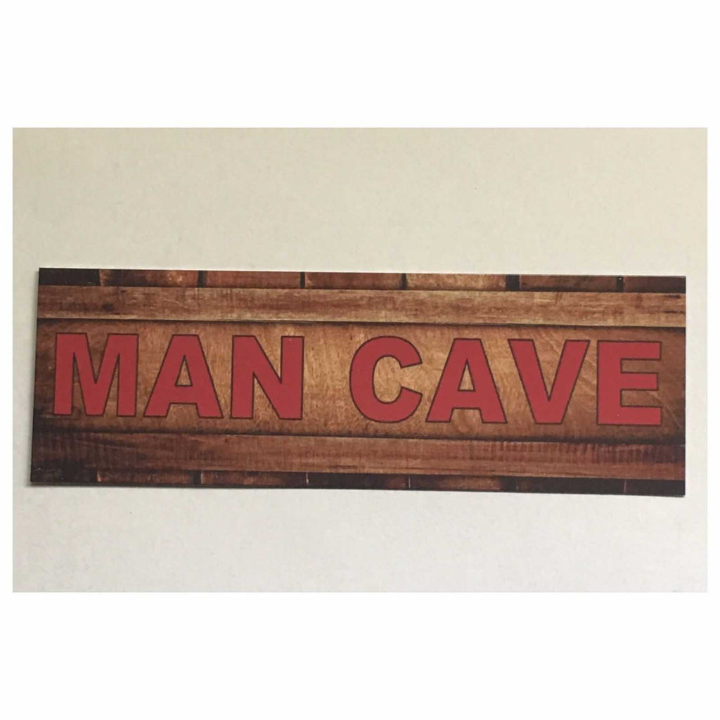 Man Cave Red Garage Room Rustic Sign Wall Plaque or Hanging - The Renmy Store