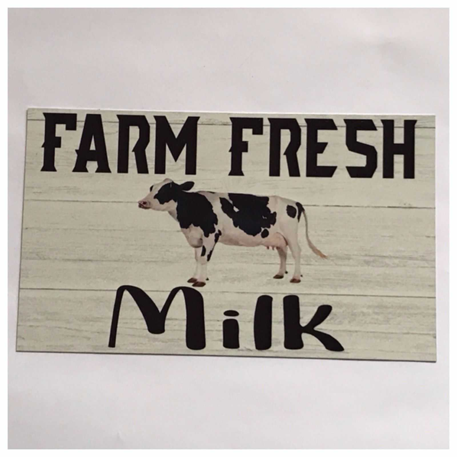 Cow Farm Fresh Milk Sign Wall Plaque Or Hanging Plaques & Signs The Renmy Store