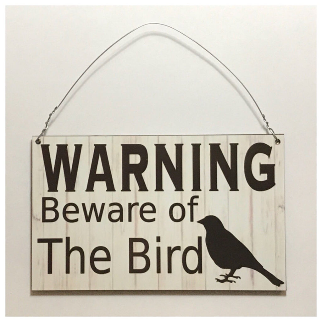 Warning Beware Of Bird Cage Sign Wall Plaque or Hanging - The Renmy Store