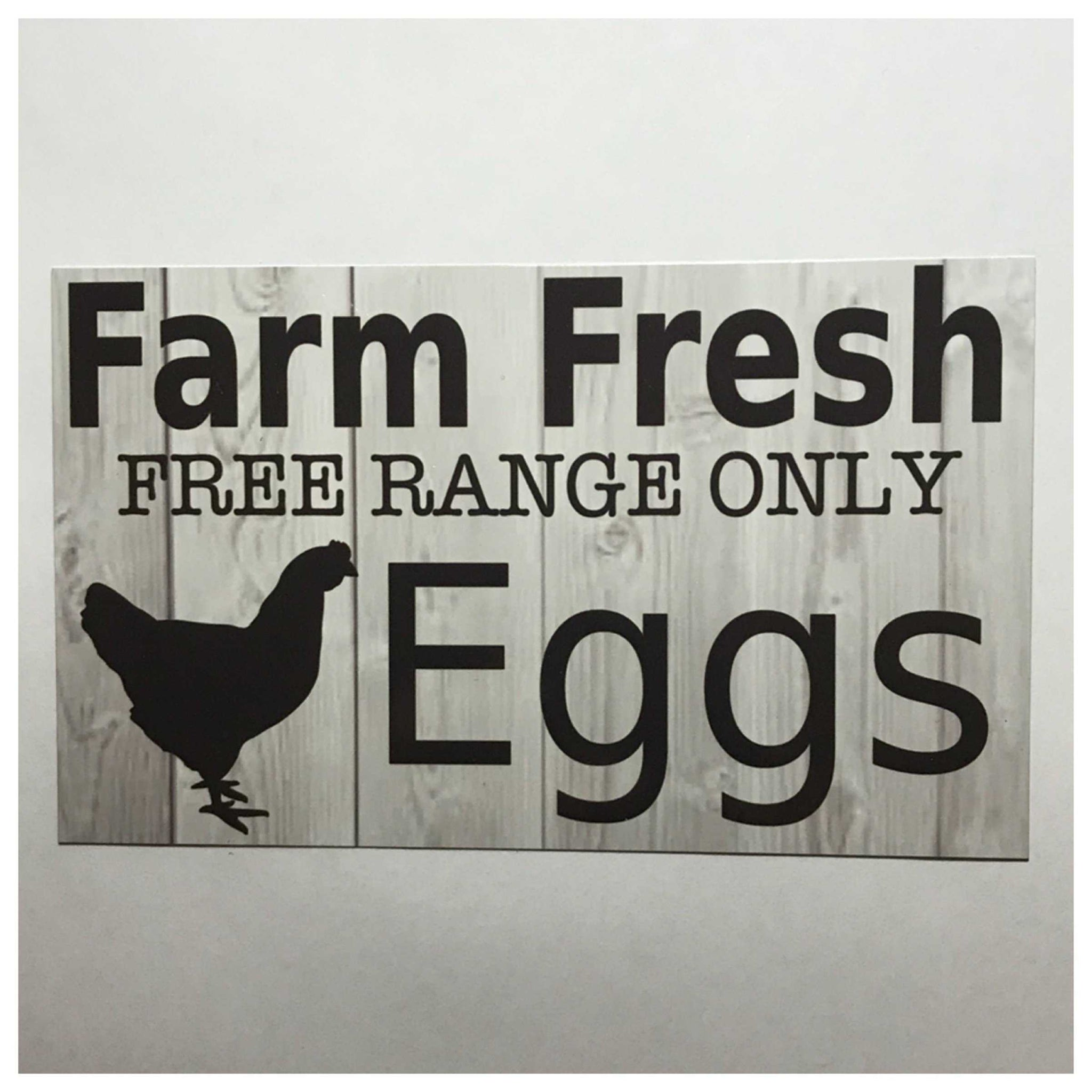 Farm Fresh Free Range Only Eggs Sign Plaques & Signs The Renmy Store