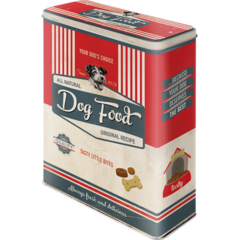 Box Tin Container Dog Biscuits Vintage Retro