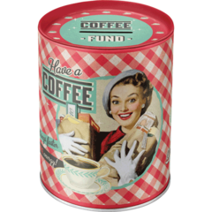Money Box Have A Coffee Retro | The Renmy Store