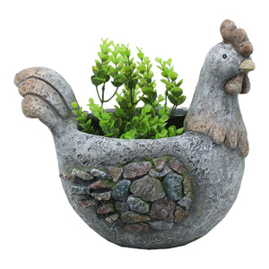 Rooster Pebbles Planter Pot - The Renmy Store