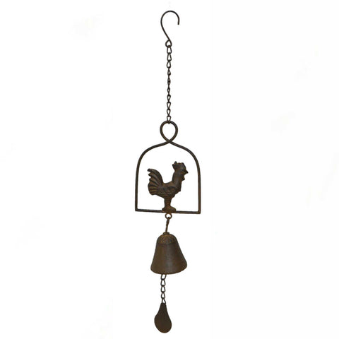Hanging Chime Bell Cast Iron Rooster Chicken - The Renmy Store