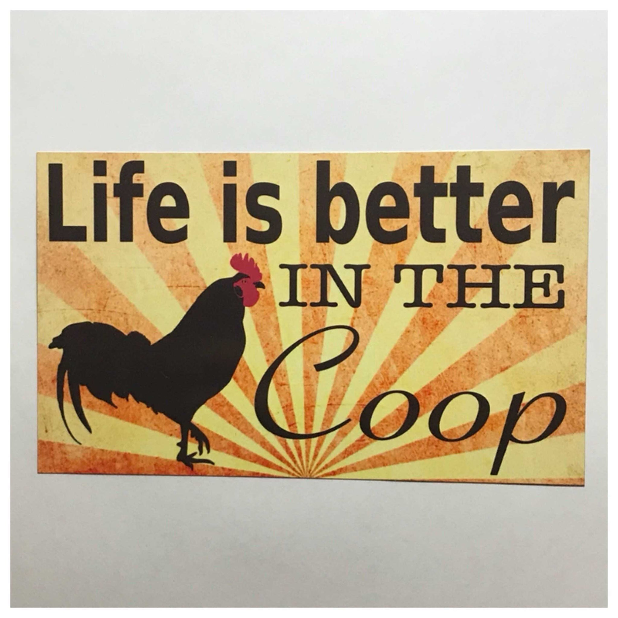 Life is better in the Coop Chicken Sign Plaques & Signs The Renmy Store