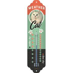 Thermometer Weather Temperature Cat Retro